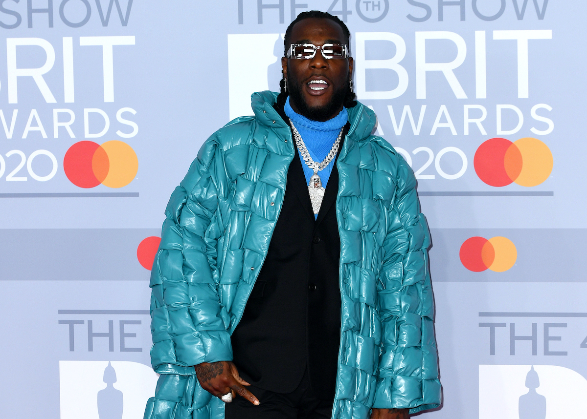SPOTTED: Burna Boy attends the BRIT Awards 2020 in Bottega Veneta