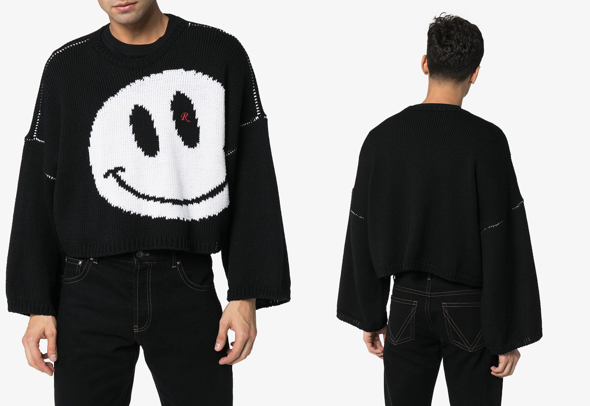 PAUSE or Skip: Raf Simons Smiley Intarsia Knit Sweater