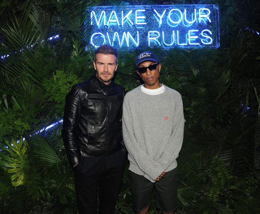 SPOTTED: Pharrell Williams & David Beckham at Swan Miami