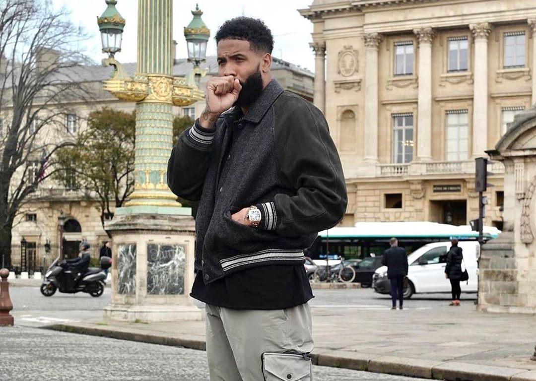 SPOTTED: Odell Beckham Jr. dons Louis Vuitton & Dior in Paris