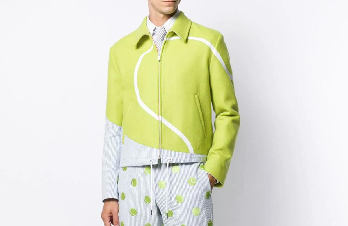 PAUSE or Skip: Thom Browne Seersucker Tennis Intarsia Jacket