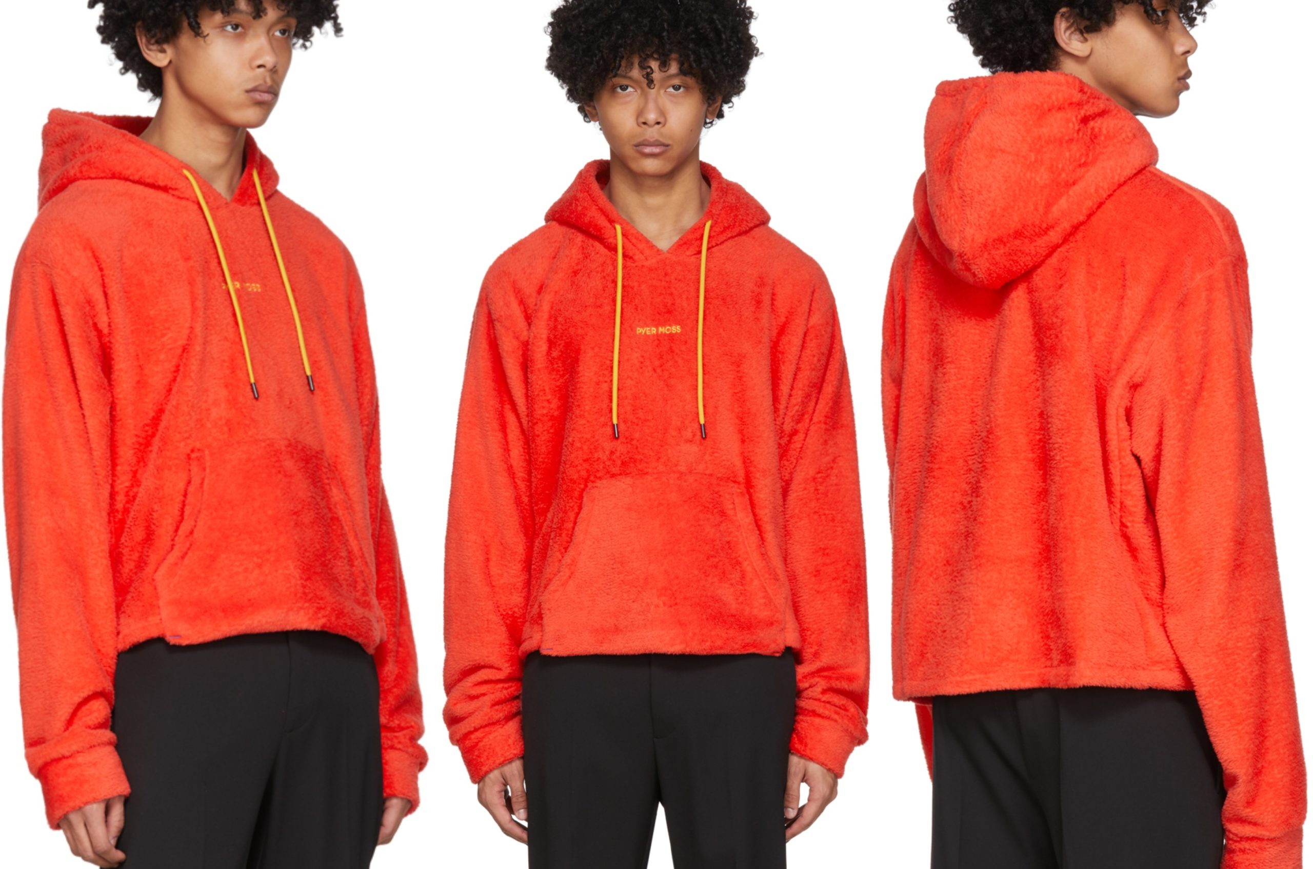 PAUSE or Skip: Pyer Moss Red Sherpa Cropped Hoodie