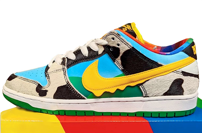 A closer look at the Ben and Jerrys X  Nike SB Dunks