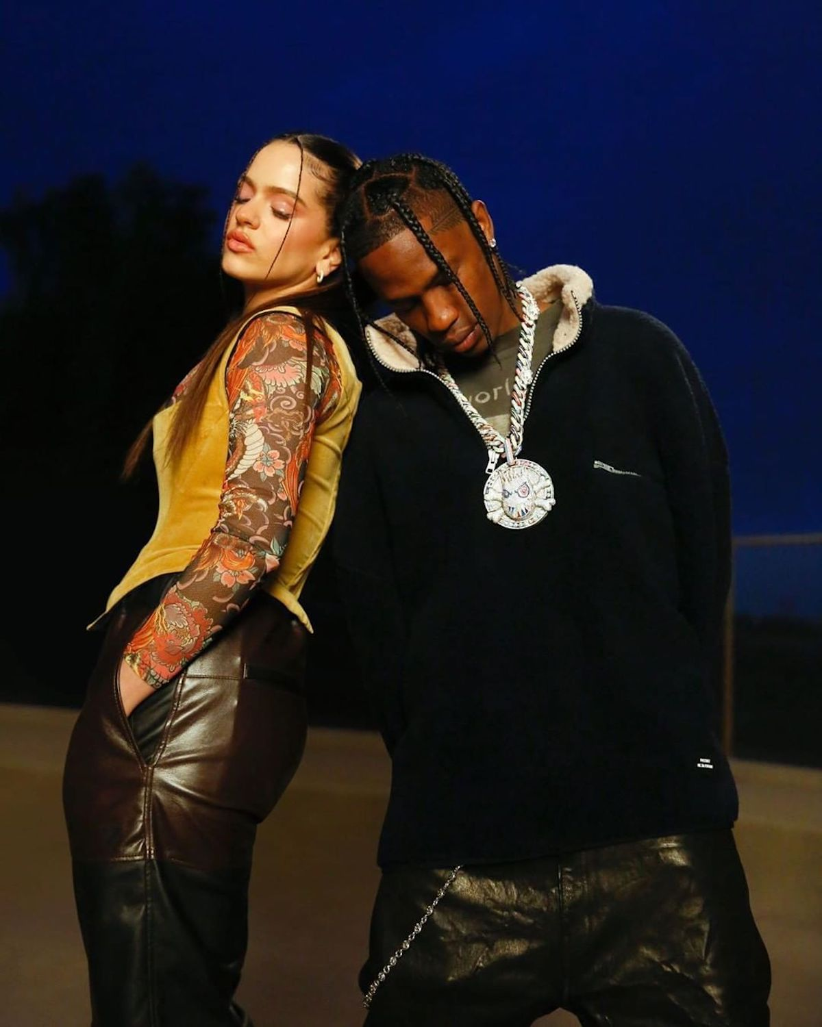 SPOTTED: Travis Scott Dons Cactus Jack & John Elliot for Rosalina Collab