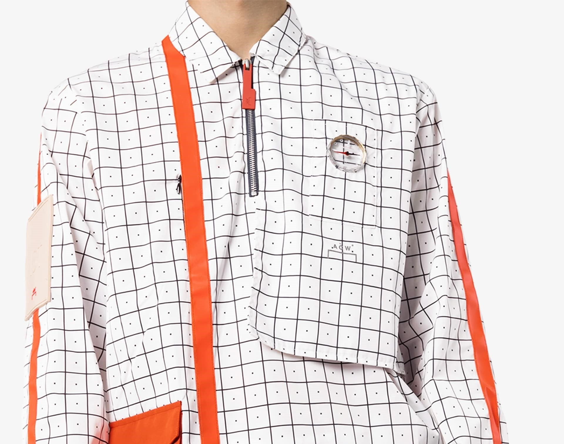 PAUSE or Skip: A-COLD-WALL* Checked Polo Shirt