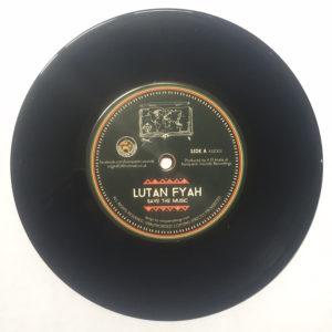 """Lutan Fyah Save The Music 7"""" vinyl"""