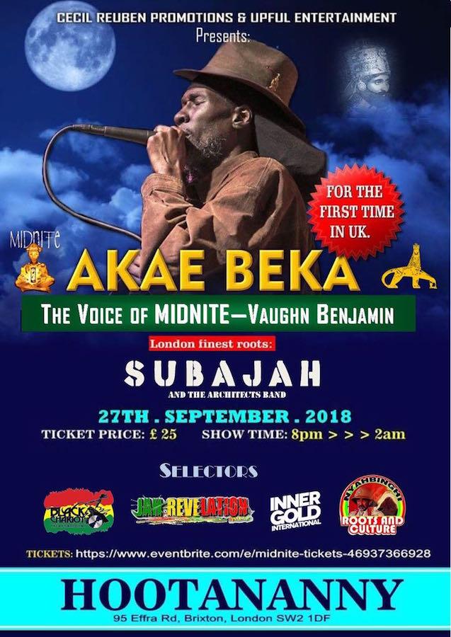 Akae Beka First Ever UK Performance Event