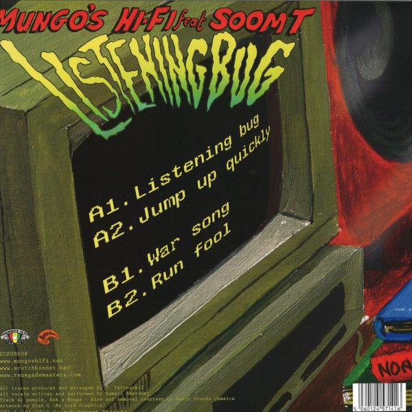 Soom T Listening Bug EP 12 vinyl back sleeve