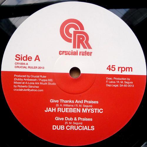 Jah Rueben Mystic Give Thanks Praise 10 vinyl