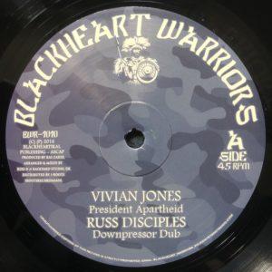 Vivian Jones President Apartheid 10 vinyl