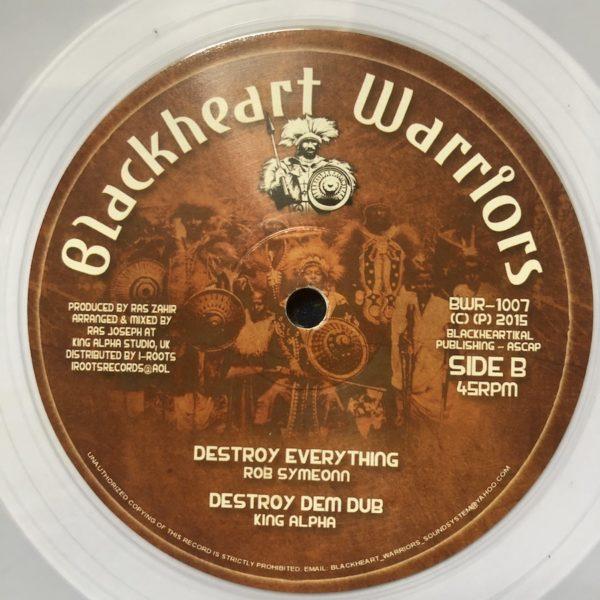 Rob Symeonn Destroy Everything 10 clear vinyl