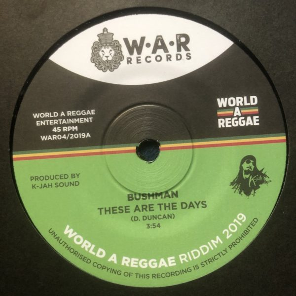 Bushman These Are The Days 7 vinyl