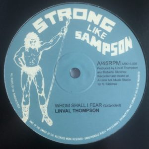 Linval Thompson Whom Shall I Fear 10 vinyl