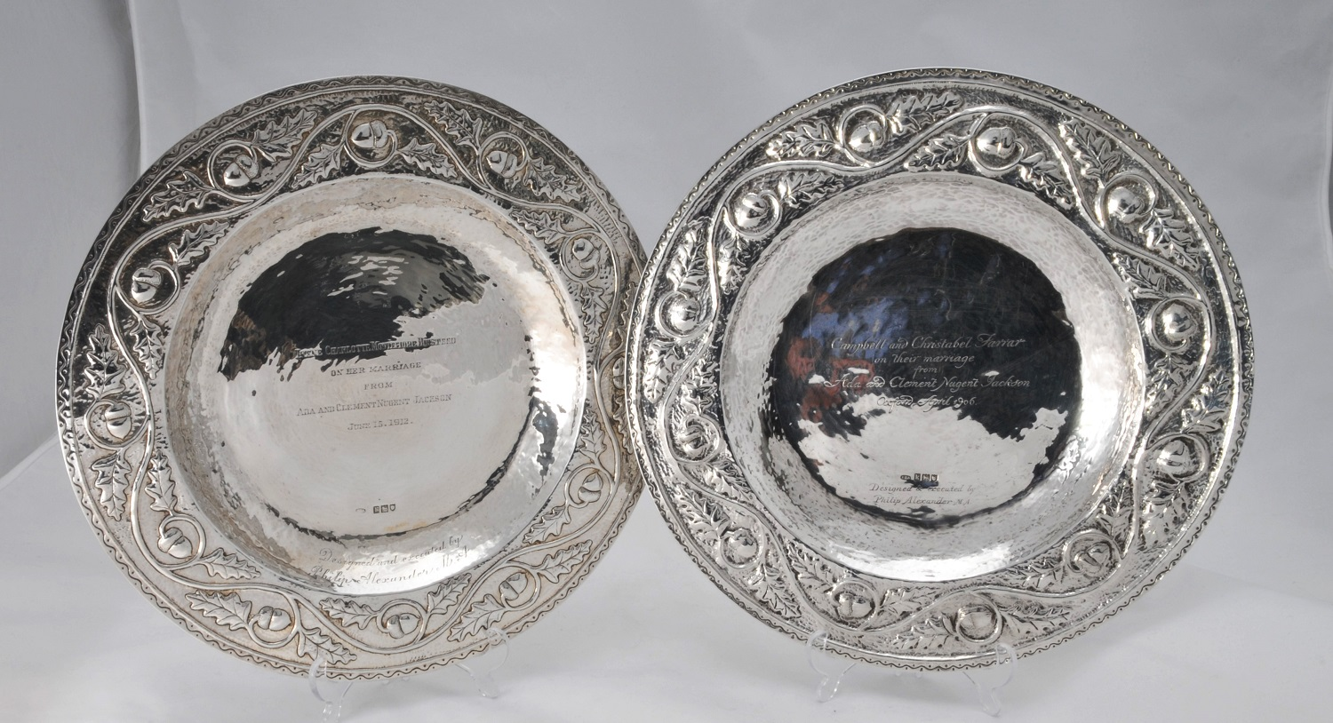 Frederick Philip Alexander arts and craft silver plates