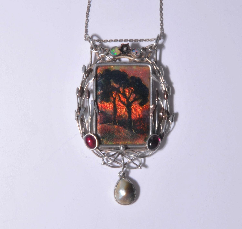 Fleetwood Varley enamel pendant