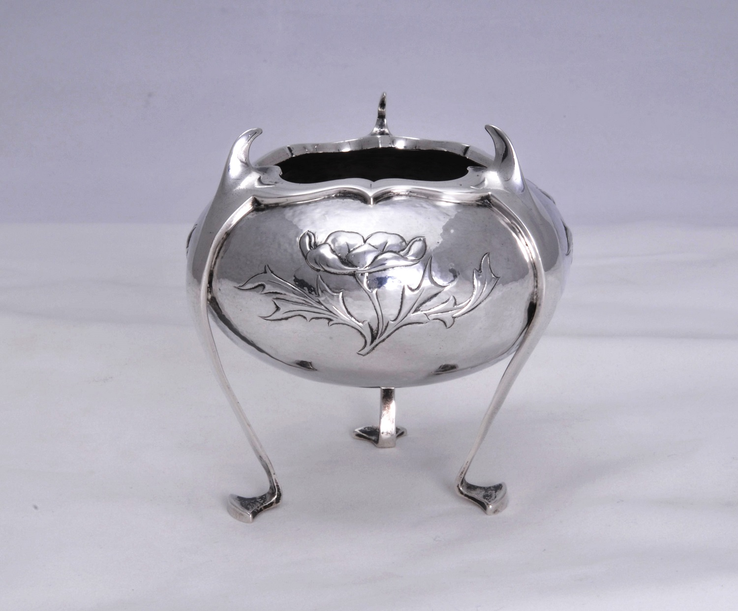 William Comyns art nouveau silver vase