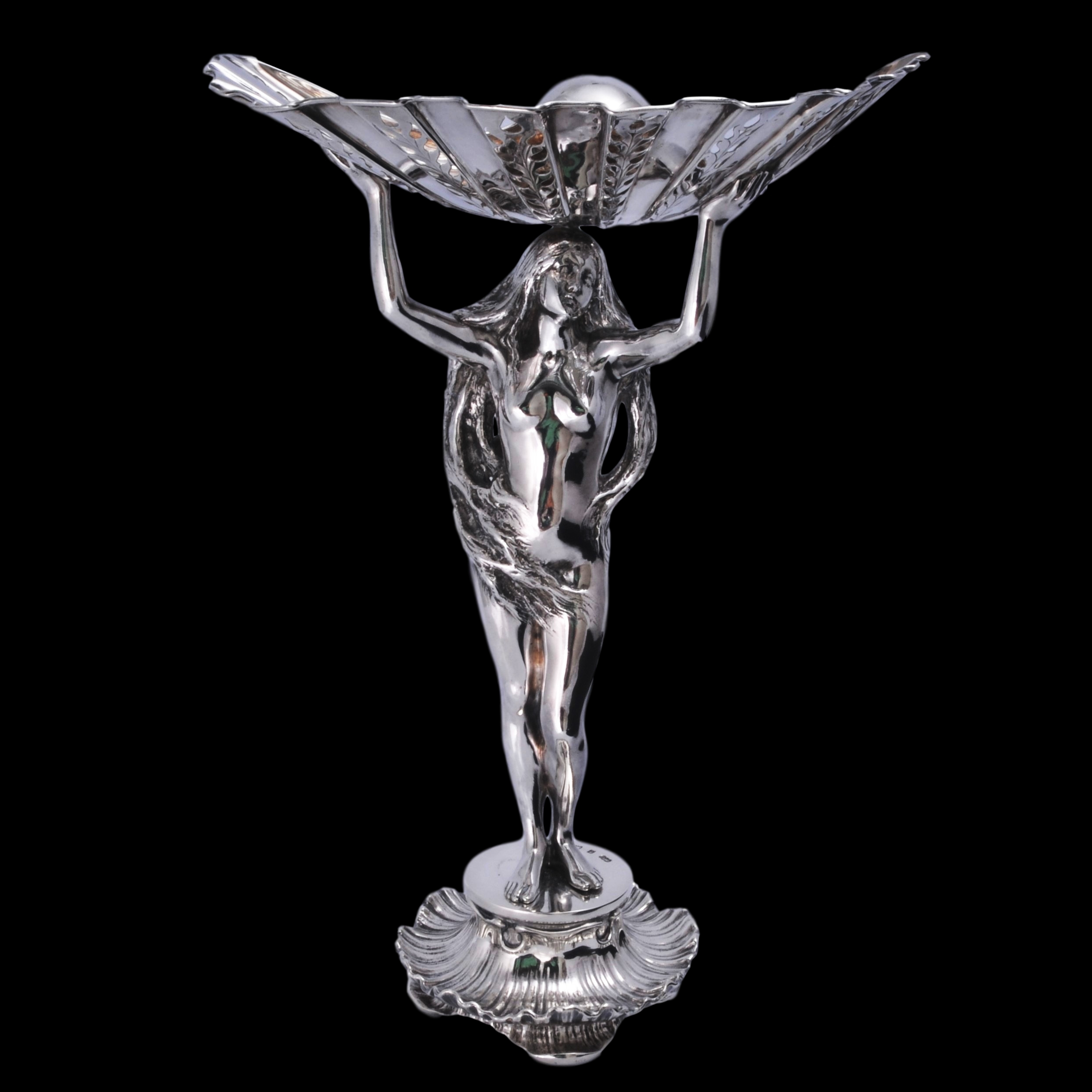 Elkington birth of venus silver sculpture