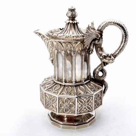 Thomas Wimbush gothic silver coffee pot