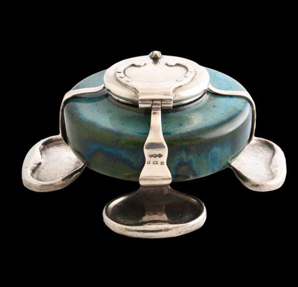 Ruskin pottery Liberty Cymric silver inkwell
