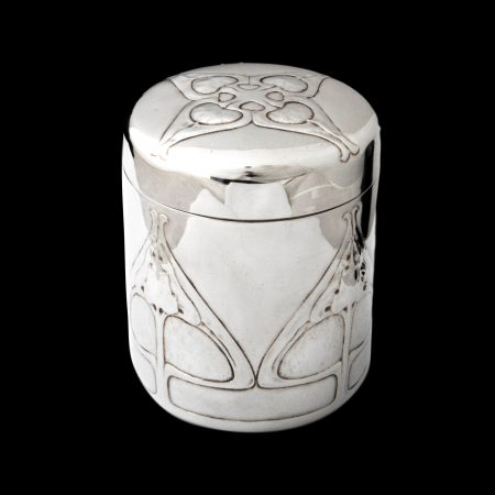 Liberty Cymric silver biscuit box