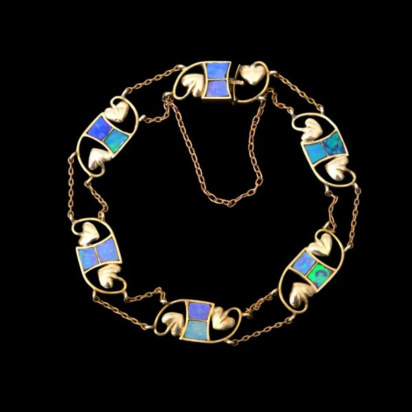 Liberty gold and opal bracelet