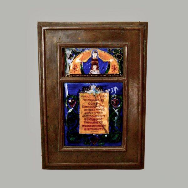 Madeline Wyndham enamel plaque