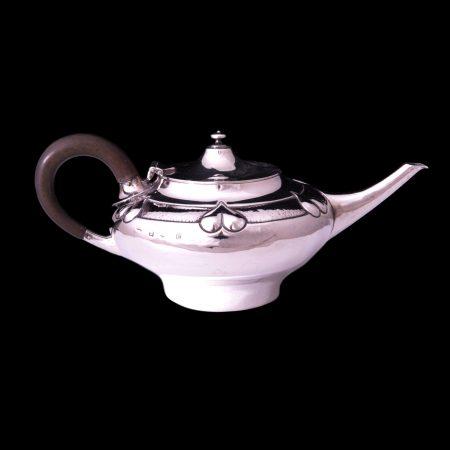 A E Jones silver teapot