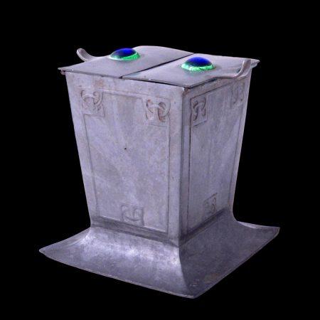 Osiris Isis pewter box, archibald knox pewter tudric