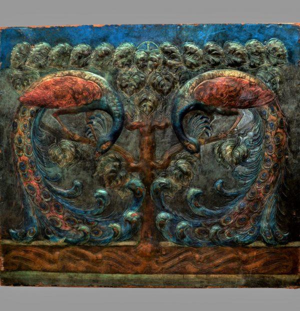 Anna boberg art, repousse arts crafts leather