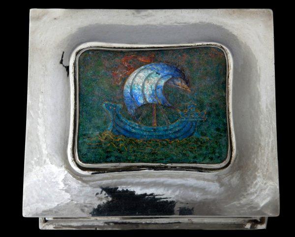 guild handicraft enamel plaque