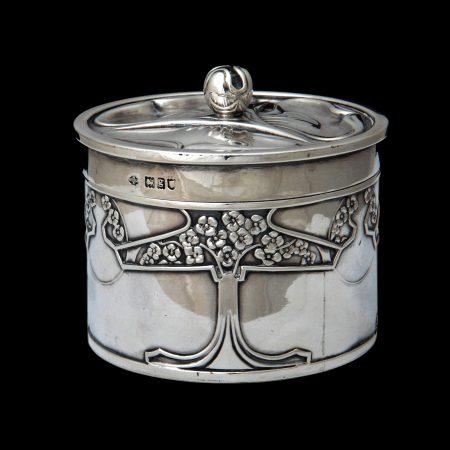 Kate Harris silver, art nouveau silver box