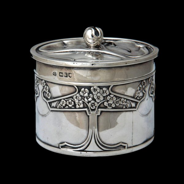 Kate Harris silver, art nouveau silver box