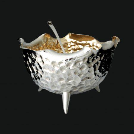 silver punch bowl, christopher dresser silver