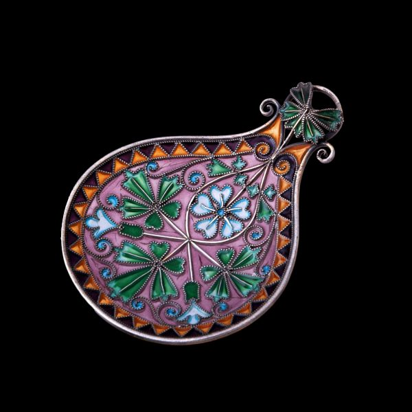 plique jour enamel spoon, david anderson caddy spoon