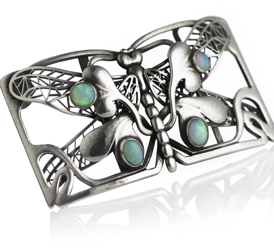 Georg jensen silver, georg jensen dragonfly buckle