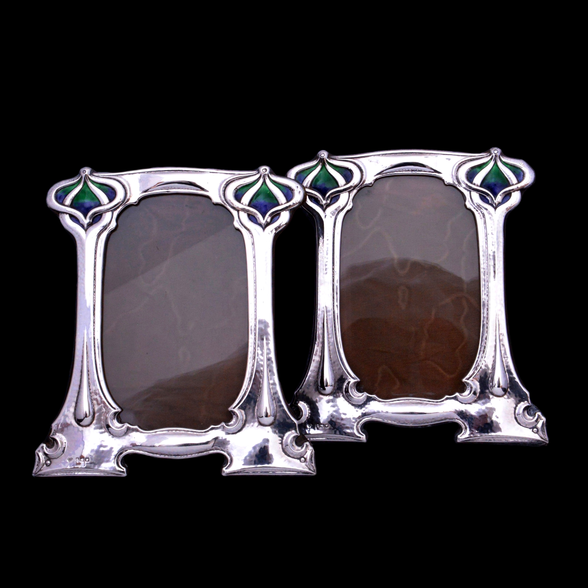 art nouveau silver photo frames, william hutton silver frames