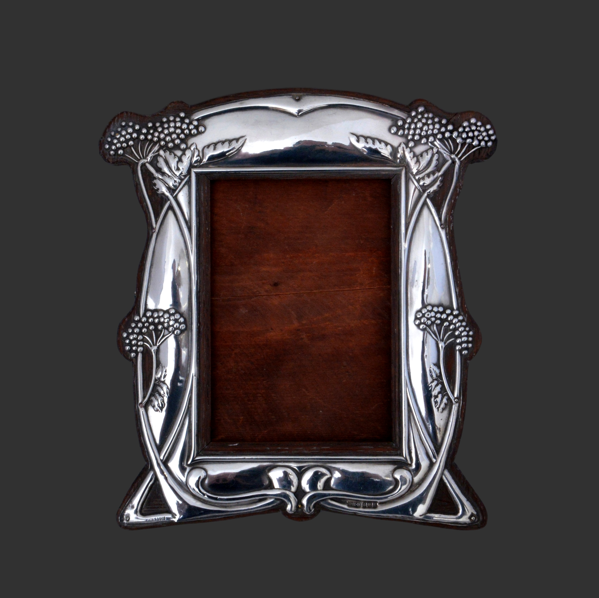 william hair haseler silver, arts crafts silver frame