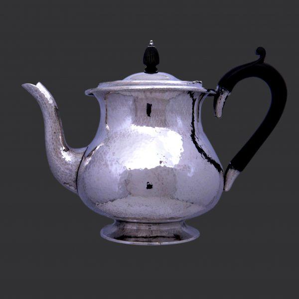 Sibyl Dunlop silver, arts crafts silver teapot