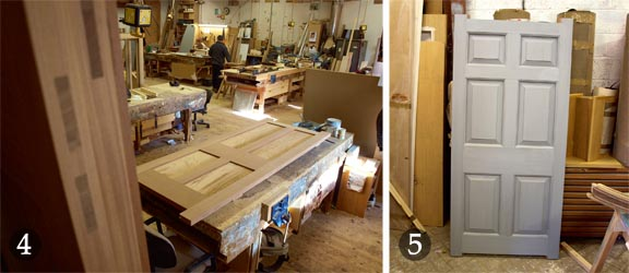Hand-crafting a wooden door