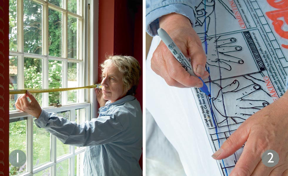 Measure up window; Trim sheets to fit the dimensions
