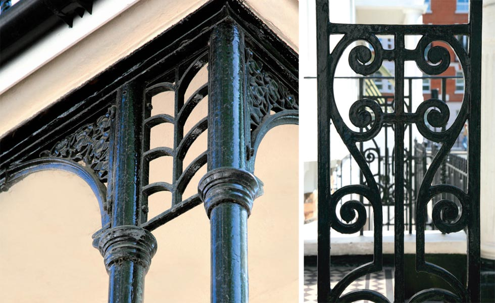 Period character guide metalwork period living Victorian columns