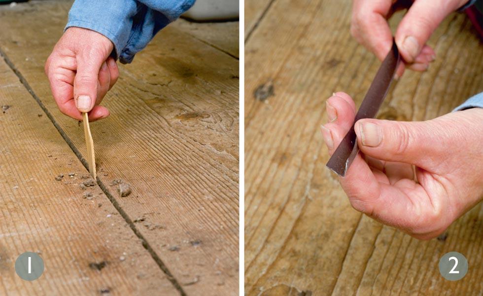 Filling Cracks Between Hardwood Floor Boards