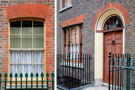 Well maintained period windows and doors