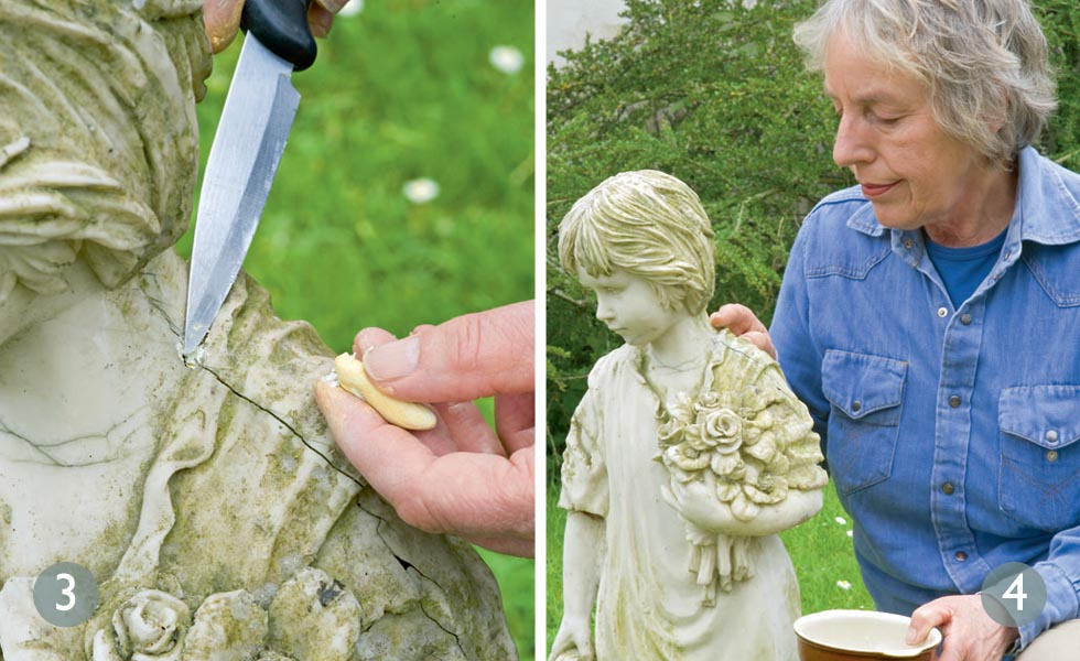 How to restore a garden statue steps 3 and 4