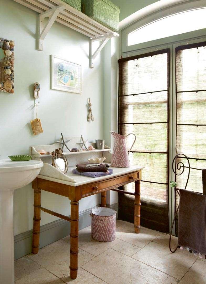 Pale bathroom