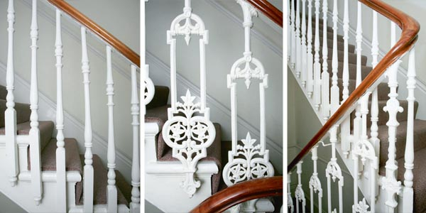 Late 19th century open string staircase