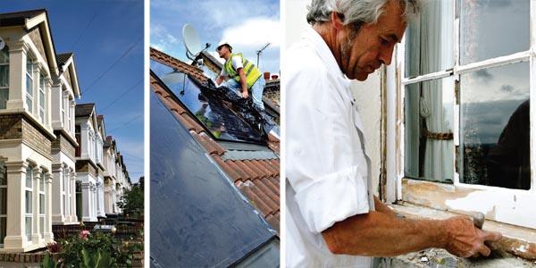 Edwardian terraced houses; Adding solar panels to a period house; Restoring sash windows