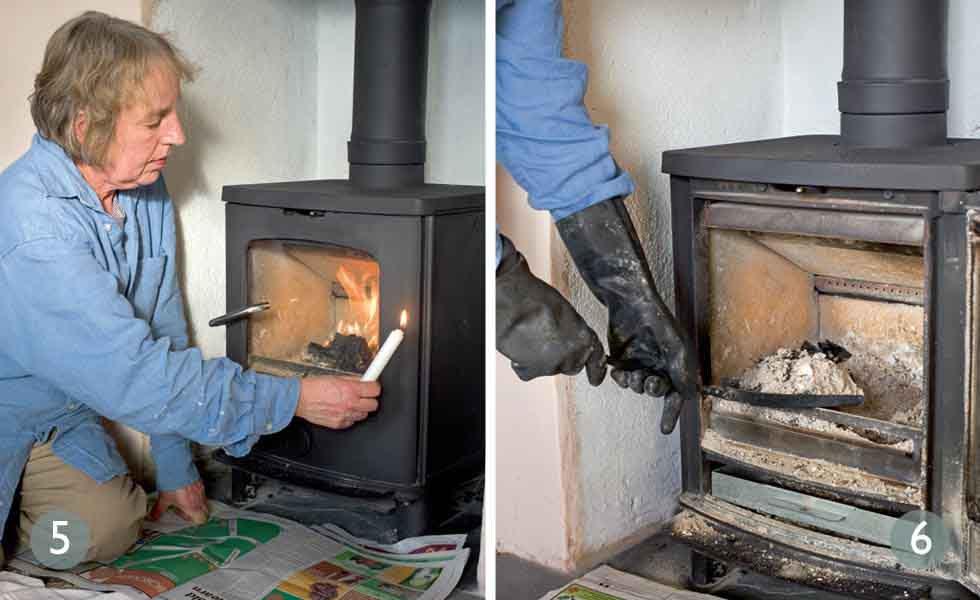 Check rope seal on stoves; Give the stove a health check