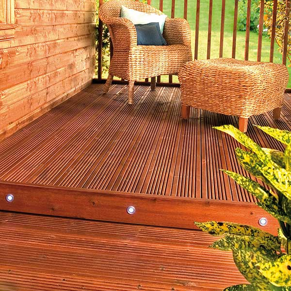 How to use paint in the garden period living for Garden decking colours