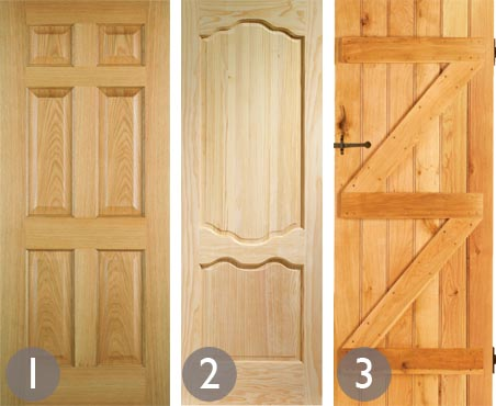 Classic Panelled Internal Door; French Style Internal Door; Ledge And Brace Internal  Door